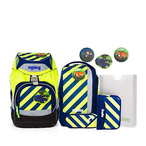 Ergobag Pack IllumiBär, ergonomischer Schulrucksack, Set 6-teilig, 20 Liter, 1.100 g, Blau