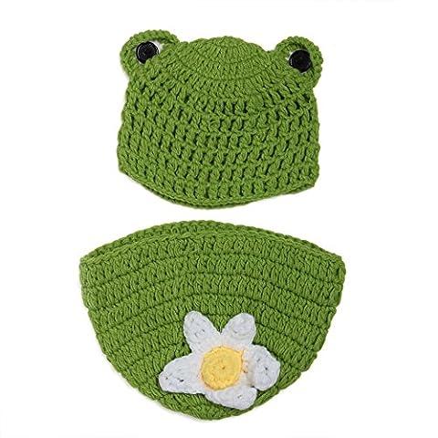Kinder Baby Strick Mütze Fotoshooting Neugeborene Frosch Muster Design Hut Kostüm Hüte (Frosch-kostüm Muster Kind)