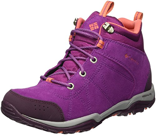 Columbia Fire Venture Mid, Chaussures Multisport Outdoor Femme, Violet (Intense Violet/Melonade 519), 39.5 EU