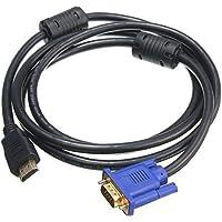 convertidor cable - SODIAL(R) 1.8M Azul HDTV HDMI a VGA HD15 macho adaptador convertidor de cable para PC TV DF Nuevo