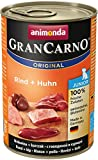 Animonda GranCarno Hundefutter Junior, Nassfutter für Hunde im Wachstum, Rind und Huhn, 6er Pack (6 x 400g)