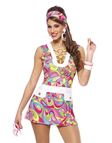 Francoamerican Novelty Company FR48251PL-XXL Groovy Chic Adult Plus-Kost-m Gr--e XX-Large