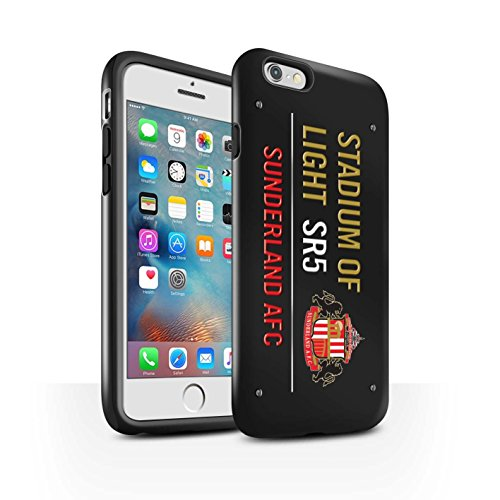 Offiziell Sunderland AFC Hülle / Glanz Harten Stoßfest Case für Apple iPhone 6+/Plus 5.5 / Pack 6pcs Muster / SAFC Stadium of Light Zeichen Kollektion Schwarz/Gold