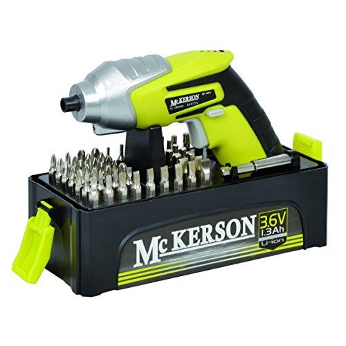 McKerson 500015 - Atornillador, batería de litio 1,3 Ah (con estuche