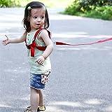 #1: Seven Moon® Baby walker toddler anti lost backpack assistant bag strap children kids keeper walking protect belt - Random Color