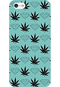 AMEZ designer printed 3d premium high quality back case cover for Apple iPhone 5 (diamond leaf)