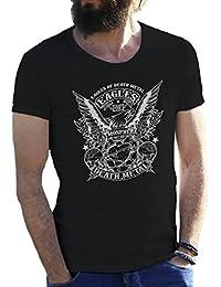 Eagles Of Death Metal BW New Logo Camiseta para hombre en grandes tamaños