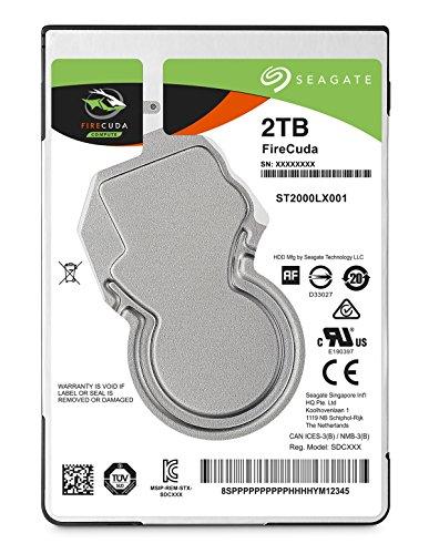 Seagate ST2000LX001 Interne Hybrid Festplatte SSHD, FireCuda 2 TB