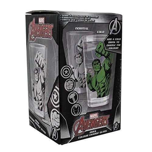 Batman Hulk Colour Change Glass, Glas, Schwarz, 9x9x15.3 cm, 2