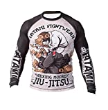 Tatami Rashguard Thinker Monkey - Funktionsshirt, BJJ MMA Compression Grappling Shirt (L)