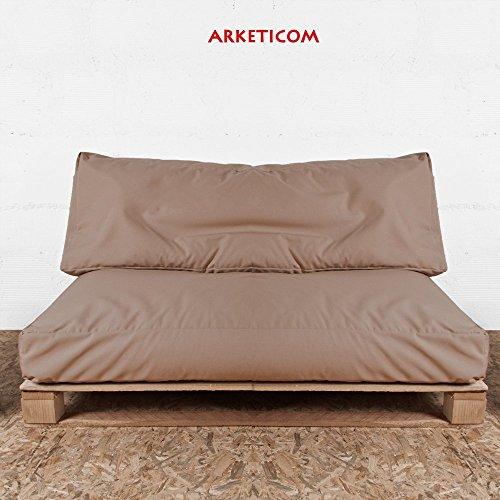 Arketicom Cuscini per Pallet BANCALI Soft Giardino Palline polistirolo Cacao Mel