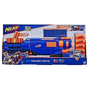 Trilogy DS-15 Nerf N-Strike Elite Spielzeug Blaster mit 15 Nerf Elite Darts und 5 Hülsen – Für Kinder, Teenager…