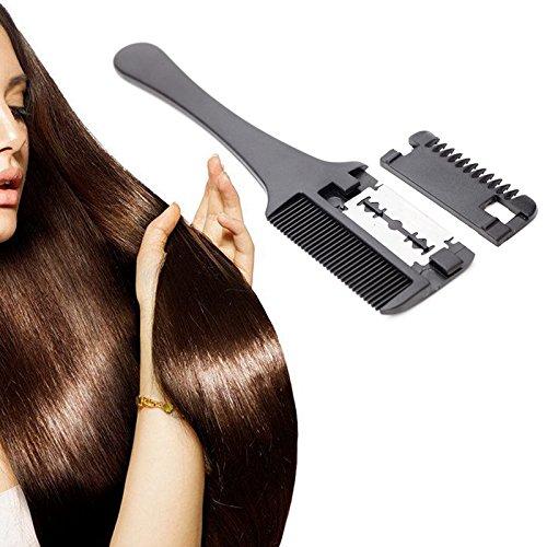 Yiwa Portable professionale tagliacapelli rasoio pettine doppio lato lama di taglio con lama casa fai da te