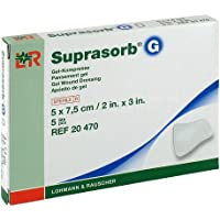 SUPRASORB G Gelkompresse 5x7,5 cm 5 St Kompressen preisvergleich bei billige-tabletten.eu