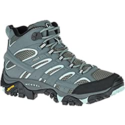 merrell women's moab 2 mid gtx high rise hiking boots - 51e6ymKgb1L - Merrell Women's Moab 2 Mid GTX High Rise Hiking Boots