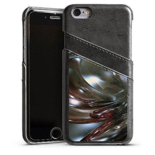 Apple iPhone 5s Housse Étui Protection Coque Chrome Chrome Chrome Étui en cuir gris