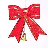 H-M-STUDIO WeihnachtsschmuckWeihnachtsbaum ZubehörGroße FensterGlastürenLayoutFliege Nr. 2 20 * 21 cm