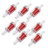 Rueckschlagventil - SODIAL(R)8 Stueck Kunststoff Aquarium 1-Wege Rueckschlagventil Luftpumpe Co2 Diffusor Set, Rot / Weiss