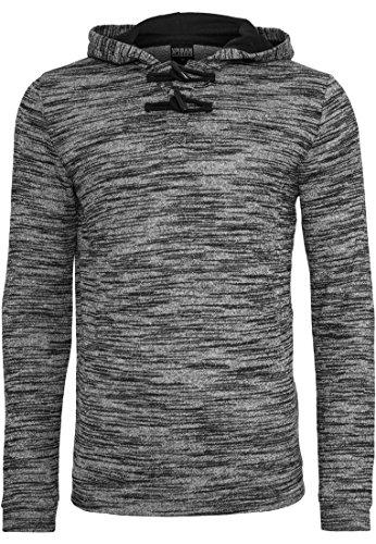 Terry Melange Button Hoody black/grey-00029