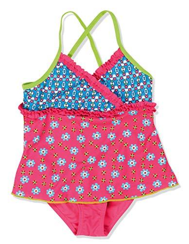 Playshoes Mädchen Einteiler Badeanzug mit Rock Blumen, UV-Schutz nach Standard 801 und Oeko-Tex Standard 100, Gr. 98 (Herstellergröße: 98/104), Mehrfarbig (original 900)