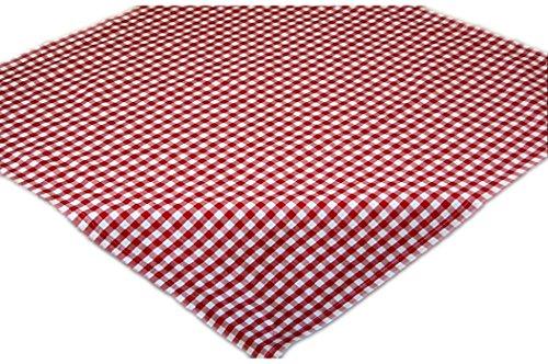 Pflegeleichte Tischdecke Decke Unterdecke Eckig Rot Weiß Karierte Gartendecke Küchendecke Landhaus (Mitteldecke 85x85 cm quadratisch) (Weiße Rot Tischdecke)