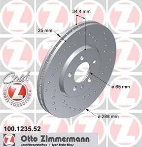 Disque de frein de Sport Disque de frein Coat Z–Zimmermann 100.1235.52