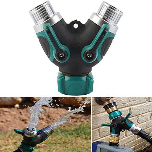 Bluelover 3/4 di pollice giardino tubo 2 Way Splitter valvola tubo di acqua rubinetto connettore (2 Torta Way)