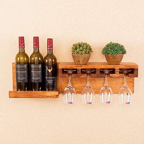Wine Rack - Haushalts-Weinregal Aus Massivem Holz, Retro-Vitrine Zur Wandmontage, Verschiedene...