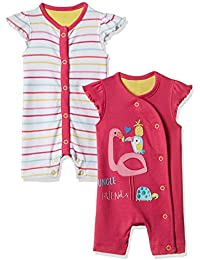 Mothercare Baby Girls' Romper Suit (Pack of 2)