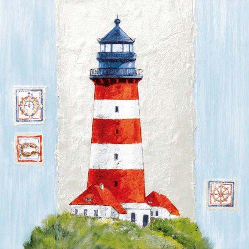 Ambiente Servietten 33x33 Küste Lighthouse- Leuchtturm - Küsten-leuchttürme