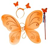 PAPILLON septembre WINGS CERCHETTO WAND ET ORANGE POUR FILLE - HLLW