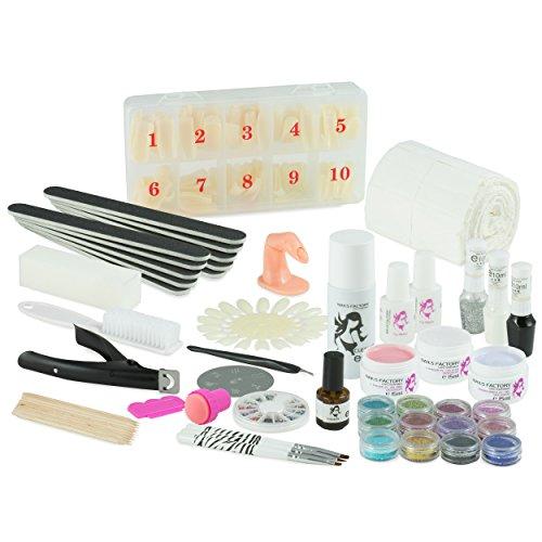 UV Gel Nagelstudio Starter Set Weiß-Nagelset mit Nailart, UV Lampe und UV Gel ideales Starterset - 2