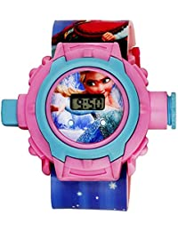 HILY - Frozen Cute Pink Digital Led Girls Kids Watch wiht 24 Unique Images - Good Gift - Best Return Gift