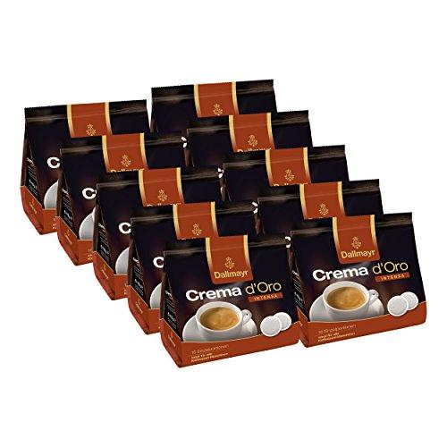 Dallmayr Crema dOro Intensa Kaffeepads, für alle Pad Maschinen, Röstkaffee, 160 Pads, á 7 g