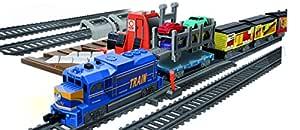 Power Train Turbos Auto Loader City Train Set, Multi Color (53 Pieces)