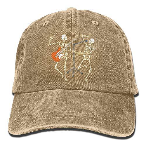 Rghkjlp Erwachsenen-Skelett-Konzert-Musik-Halloween-justierbare Baumwolljeans-Baseballmütze (Arizona Halloween Kostüme)