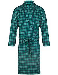 Robe de chambre légère 100% coton à carreaux - Homme