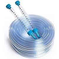 Quantum Garden QG-LH-BL-10Schlauch mit 2x Röhrchen, Wasser-Level Gauge-Set, transparent, blau, 10Meter