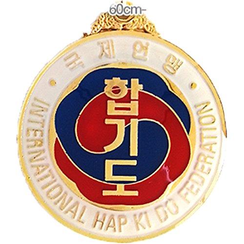 SANGA Hapkido Medalla Internacional Hapkido Federation Award Award Gimnasio School 3 Type para Hombre 6cm Oro