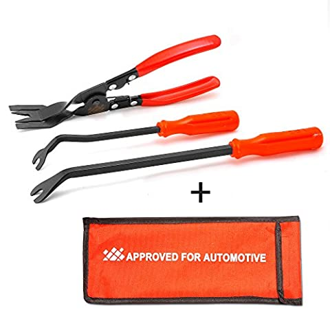 AFA [3 Pcs] Clip Plier Set & Fastener Remover - The Most Essential Combo Repair Kit