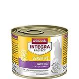 animonda Integra Protect Sensitive mit Lamm und Reis | Diät Katzenfutter | Nassfutter bei Futtermittelallergie (6 x 200 g)