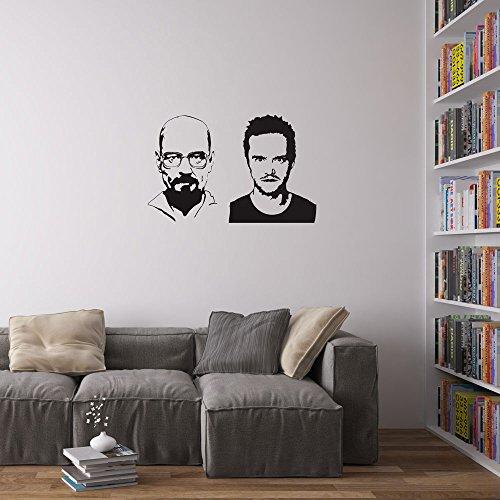 Preisvergleich Produktbild Vinyl Revolution Jesse Pinkman And Heisenberg Wall Art Wandtattoo