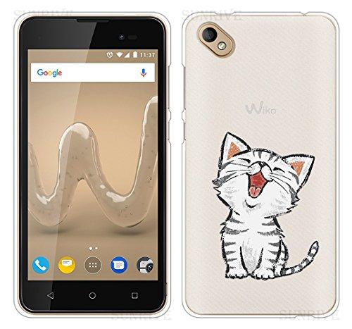 Für Wiko SUNNY 2 PLUS Hülle Silikon,Sunrive Handyhülle Schutzhülle Etui Case Backcover für Wiko SUNNY 2 PLUS 5,0 Zoll(tpu Katze 2)+Gratis Universal Eingabestift