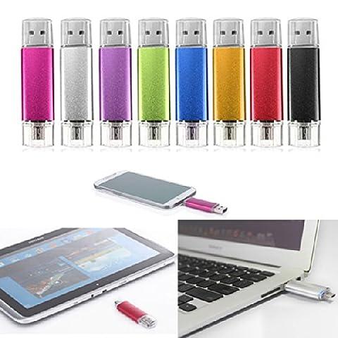 FamilyMall(TM)32GB USB Stick 2.0 OTG Mikro USB Flash Drive fuer