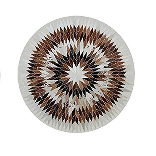 Wohnzimmer Teppich Round Teppich Polstermöbel-Tisch-Matte Einfach Im Statik-Teppich Anti-Rausch-Anti-Rausch-Rauschen Und Komfortable Schmutzbodenmatte (Color : Brown, Size : 120cm) - Wohnzimmer-polstermöbel, Tisch