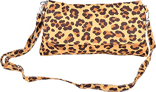 Cute Retro LEO 50s LEOPARD Clutch / Tasche - Beige Rockabilly (Heels Cute)