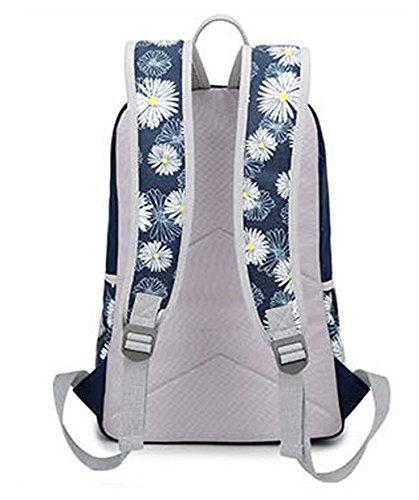Tibes Zaino Di Tela Zaino Della Scuola Borsello Donna Schoolbag Zaino Per Scuola Profondo blu