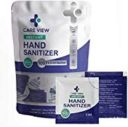 Careview Model No. CV-1611 Instant Antibacterial Hand Sanitizer Sachets (Pack of 100, 2ml), white