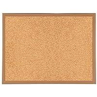 900mm x 600mm Heavy Duty Wooden Frame Cork Notice Message Board & Fixings
