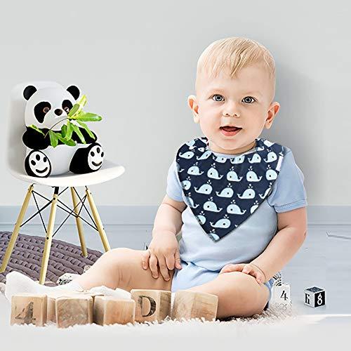 Imagen para YOOFOSS Baberos Bandana Bebé, 8 Baberos Absorbente y Suave de Algodón Orgánico para niños 1-3 Años
